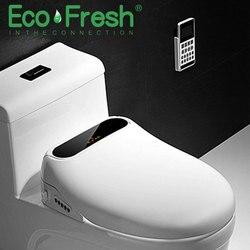 EcoFresh, tapa de inodoro eléctrico inteligente, asiento limpio en seco, calefacción, asiento de baño inteligente wc, cubierta de pantalla LCD