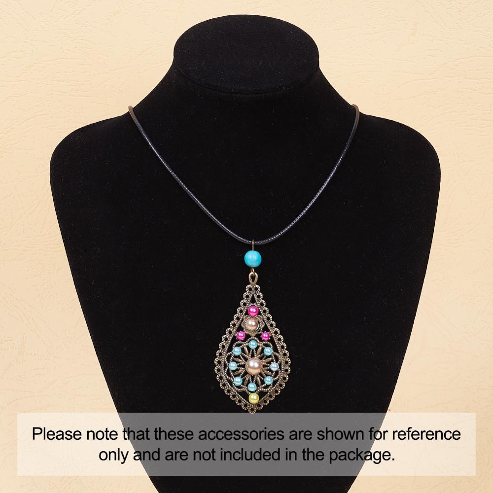 20pcs 35x21mm metal teardrop tear water drop filigree chandelier earring necklace pendant DIY charm antique bronze silver gold color BM734