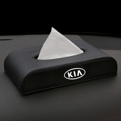 Leather Car Tissue Box Cover Box Boxes holder For KIA ceed sportage soul seltos sonet forte 2020 accessories Car Decoration