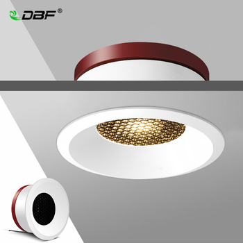 [DBF]2020 New Honeycomb Nest Anti Glare Lens Recessed LED Downlight 5W 7W 12W 15W Dimmable Ceiling Spot Light Pic Background
