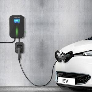 Image 5 - EV מטען EVSE Wallbox חשמלי רכב תחנת טעינה עם סוג 2 שקע 32A 1 שלב IEC 62196 2 עבור אאודי BMW מרצדס בנץ