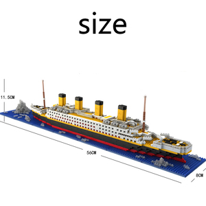 Image 5 - タイタニック船モデルビルディングブロックレンガのおもちゃ 1860 個ミニタイタン 3D キット Diy ボート教育コレクション子供のための男の子