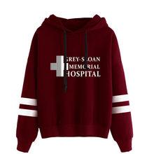 Cinza sloan memorial hospital moletom com capuz meredith cinza derek pastor cinzento s anatomia pulôver moletom com capuz sweatershirt