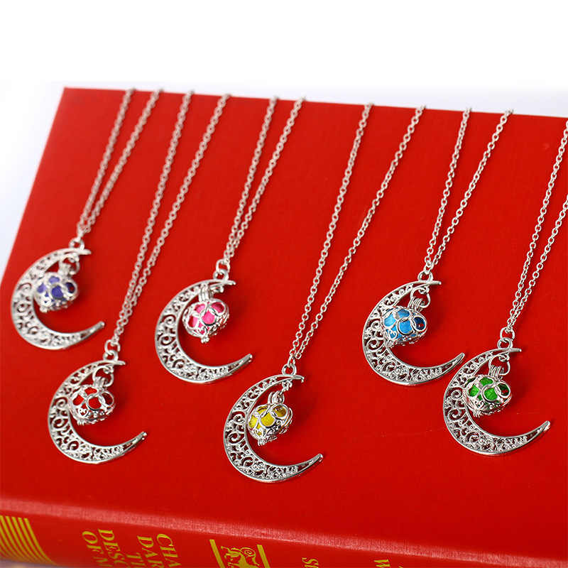 Europe and the United States hot moon hanging five-ring multi-color hair ball perfume sprinkler pendant aroma accessories