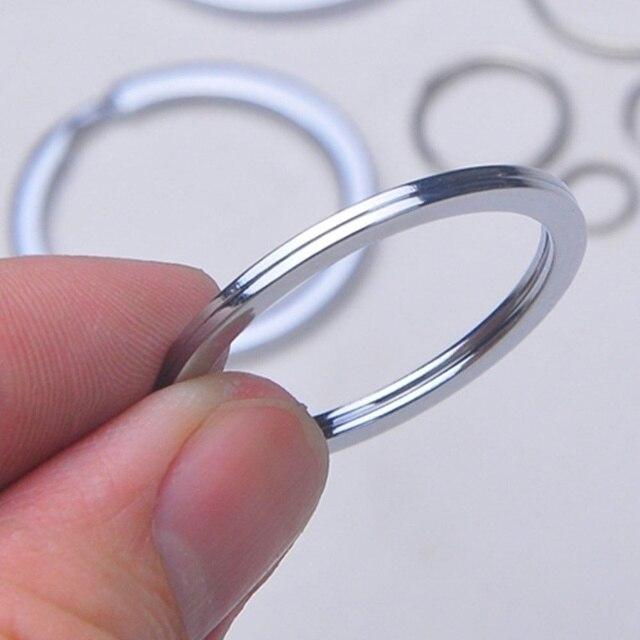 Silver Plated Metal Blank Keyring Keychain Split Ring Keyfob Key Holder Rings Women Men DIY Key Chains Accessories 6