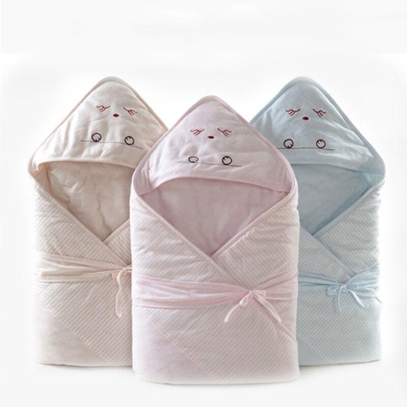 90*90cm Spring Newborns Baby Blanket Swaddle Wrap Cartoon Baby Hooded Blankets Bedding Bath Towel Sleepsack For Newborn Baby