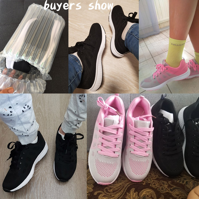 2020 Women Shoes Flats Fashion Casual Ladies Walking Woman Lace-Up Mesh Breathable Female Sneakers Zapatillas Mujer Feminino 3