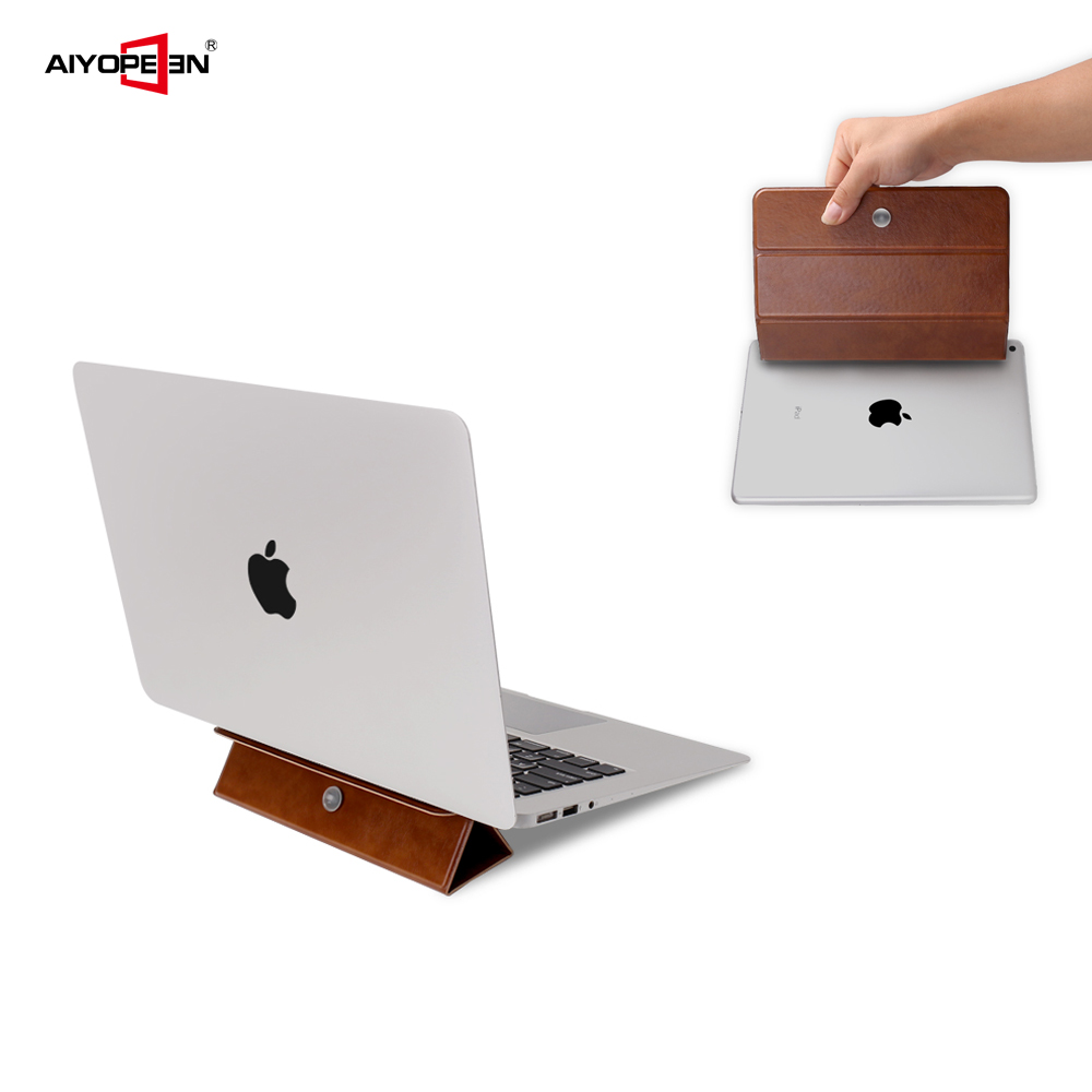 Universal Foldable Desk Stand Holder For Laptop, Aiyopeen Ultra Slim Adjustable And Invisible Laptop Stand For Macbook Holder