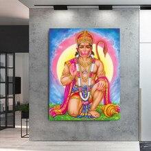 Noridc wydruki na płótnie malowanie modułowe obrazy Rama Lord Hanuman Modern Wall Art indyjski bóg plakaty Home Decoration Framework