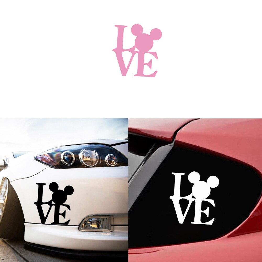 "Disney Mickey Vinyl Decal Sticker Car Window Wall 4/"" Black or White You Choose"