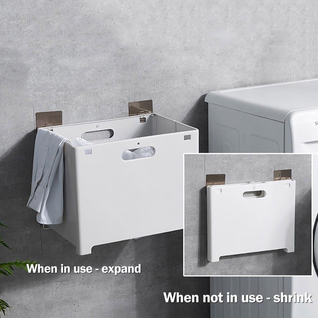 Складная корзина для хранения без дырочек, настенная корзина для хранения белья для ванной, корзина для хранения одежды|Корзины для хранения|   | АлиЭкспресс - Для ванной