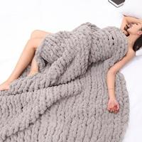 Solid Color Knitting Thicken Blanket Hand woven Cotton Yarn Soft Crochet Thick Yarn For Knitting Warm Sweater Sofa Cushion Scarf