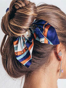 Hair-Bands Pearl Ponytail-Holder Elastic Girls Women New Bowknot for Scrunchies Chiffon