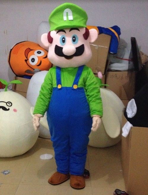 New Version the green Mario Mascot Costume Adult Birthday Party Fancy Dress Halloween Cosplay Outfits Clothing Xmas
