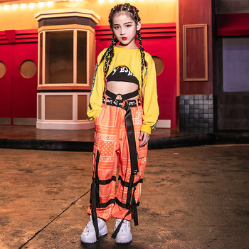 3-Piece Set Children'S Jazz Dance Costume Hiphop Performance Clothing For Girls School Street Dance Competition Costumes DWY2363