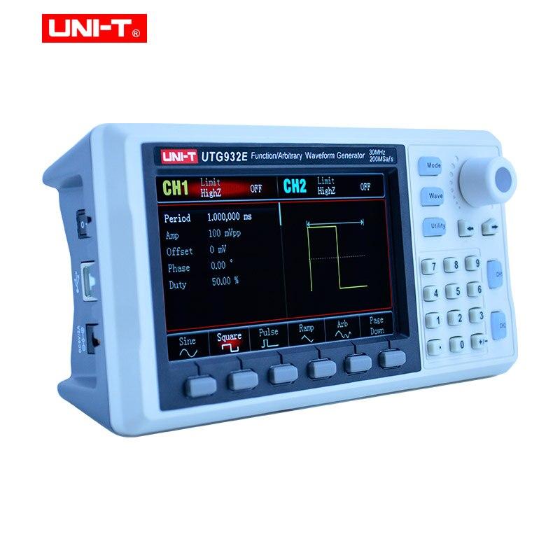 UNI-T UTG932E UTG962E Функция генератор сигналов произвольной формы сигнала источник двухканальный 200 мс/с 14 бит Частотный измеритель 30/60 МГц
