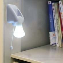 Light Bulb Stick Up Portable Night Handy Cabinet Closet Lamp Night Lights On off Pull Cord
