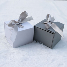 1PC Gift Box  Jewelry Ring Earrings Bag Decoration Ribbon Bow Universal