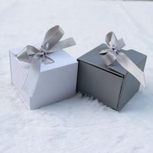 1PC Gift Box  Jewelry Jewelry Box Ring Earrings Bag Decoration Jewelry Box Gift Box Ribbon Bow Universal