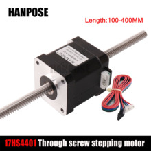 42BYG Through type screw body torque 17HS4401 linear screw stepping motor100/200/300MM for Motor in automatic feeder