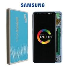 Super AMOLED Dành Cho Samsung Galaxy Samsung Galaxy S8 S8 Plus G950 G950F G955fd G955F Đốt Cháy trong Bóng Màn Hình LCD Cảm Ứng màn hình Số Hóa