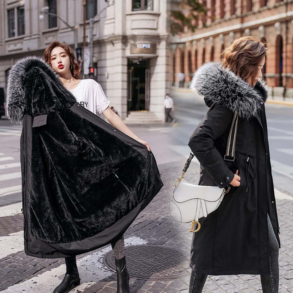 Купить модное длинное зимнее пальто pinkyisblack 2020 женская одежда