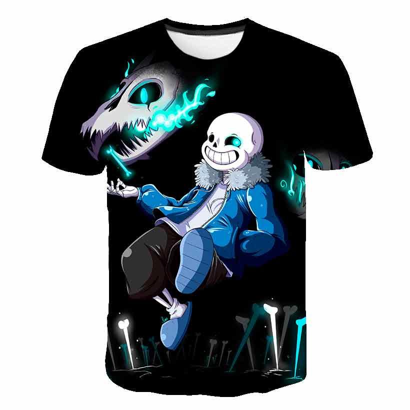 Nouveau jeu Undertale Inktale Sans et Papyrus 3D T-shirt squelette frère citation unisexe hauts enfants T-Shirts Camisetas garçon/fille