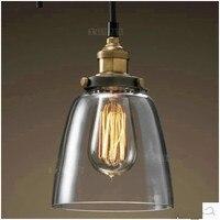 Industrial do vintage retro lustre de vidro barra criativo minimalista sala estar quarto lâmpada cabeceira corredor cor clara