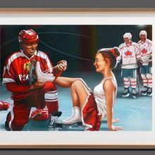 Vintage ruso Pin Up lazos para niñas los zapatos de patinaje Retro Poster lienzo pintura DIY adornos de pared de papel decoración del hogar regalo