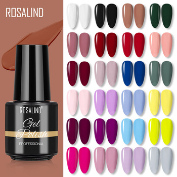 ROSALIND Gel Nail Polish Semi Permanent Winter Color Series Glitter Gel UV Led Lamp Polish Extension For Nails Manicure Set 1
