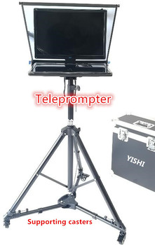 YISHI New 22 Inch Folding Portable Teleprompter for Micro-class Session Moderator Inscription Teleprompter Support Belt Casters