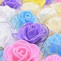20/50 шт 4 см пенопластовые розы блестящая бахрома шелковые искусственные цветы для свадебного украшения ручной работы DIY венки ремесленные ц...