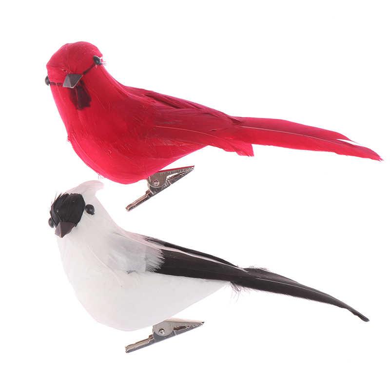 Créatif mousse plume perroquets artificiels Imitation oiseau modèle maison en plein air jardin mariage décoration ornement bricolage partie utilisation
