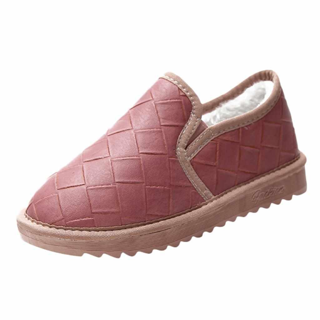 Kar botu kış Kadın Kısa Tüp Artı Kadife Kalın Pamuklu botları Düz Öğrenci Ekmek pembe Ayakkabı Artı boyutu 43 Bota Feminina