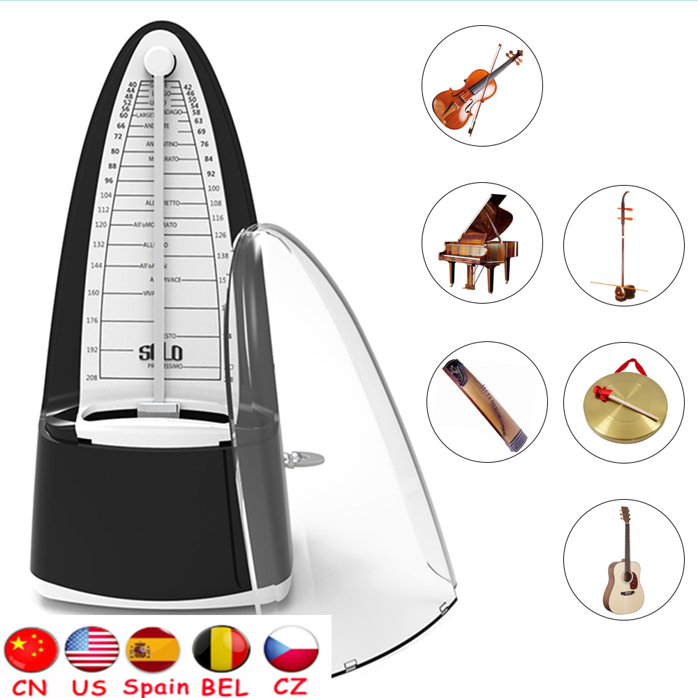 2020 Universal Guitar Mechanical Metronome ABS Material For Guitar Violin Piano Bass Drum For Music Beginners Guitar Accessories