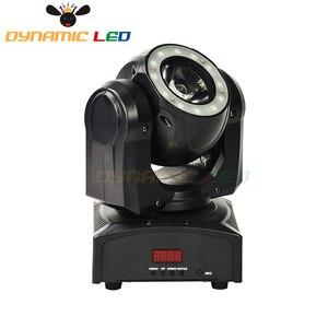 Image 5 - Mini 60W Hareketli Kafa Işık Led Halo Etkisi Ile Işın Led Sahne aydınlatma RGBW 4in1 dj ışığı