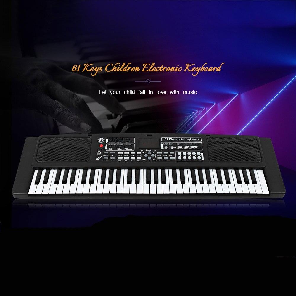 61 touches clavier électronique Piano avec Microphone externe enfants jouets éducatifs orgue Instrument de musique enfants jouet