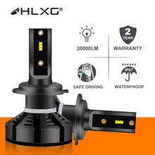 Hlxg h7 conduziu as lâmpadas h4 do farol do carro h1 conduziram h11 h8 hb3 9005 hb4 9006 faróis de nevoeiro 6500k 4300k 5000k 12v 20000lm automóvel nebbia com zes