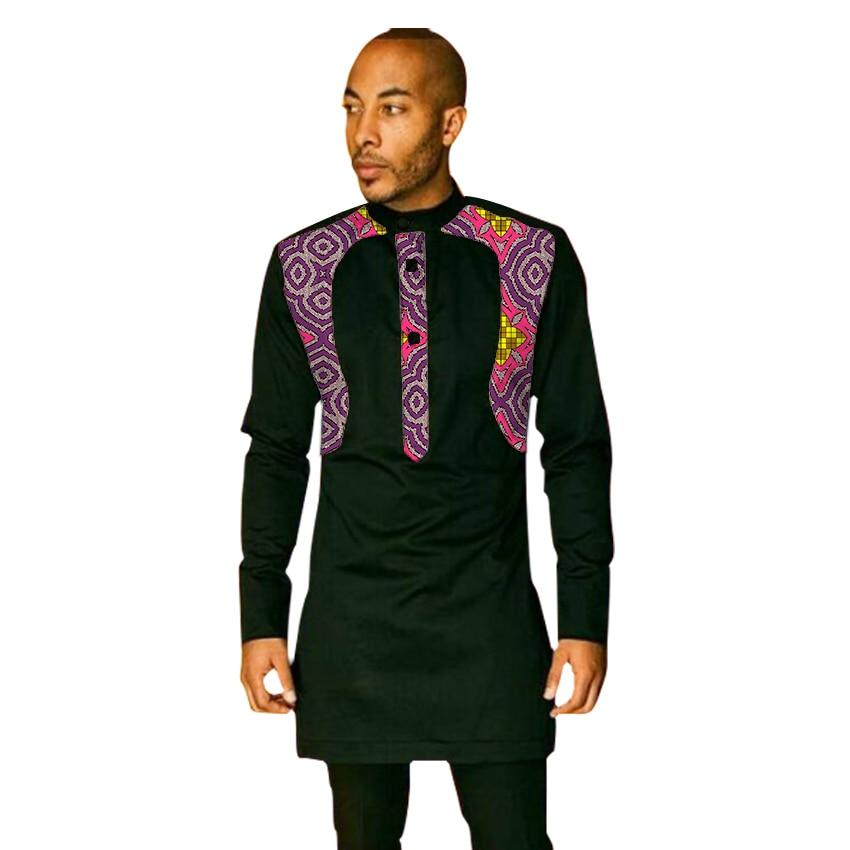 Мужская африканская одежда в стиле пэчворк мужские рубашки Дашики