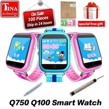 Wholesale GPS Kids Smart Watch Q750 with 1.54inch Touch Screen SOS Call Location Device Tracker for Kid Safe 50PCS/lot(China)