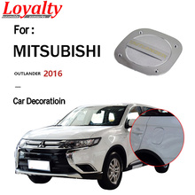 цена на Loyalty For Mitsubishi outlander 2016 Fuel Tank Cover Gas/Oil Tank Cap Trim Frame Cover ABS Carbon fiber Car Accessories