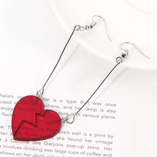 JoJo Bizarre Adventure Jean Pierre Polnareff Earrings Earring Cosplay Prop Anime Personality Heart-shaped Cherry Earrings