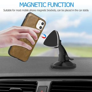 Image 5 - KISSCASE Magnetic Leather Wallet Case For iPhone 11 Pro Max 7 8 6 6S Plus Phone Holder For iPhone XS Max XR X PU Retro Handbag