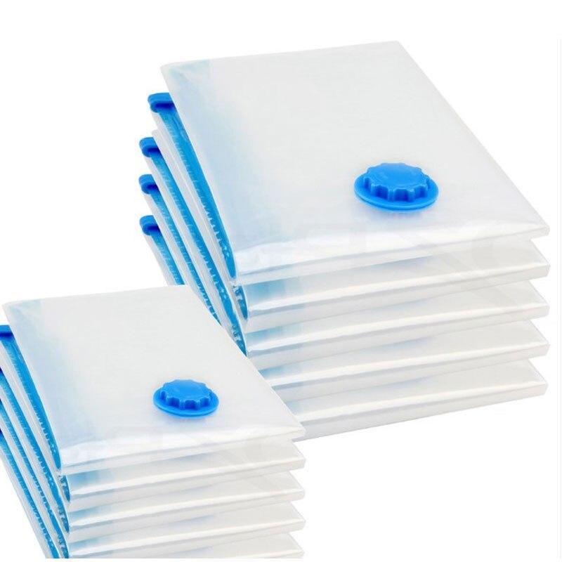5 pçs/set Vácuo Saco De Armazenamento de Roupas Quilt saco w/Válvula de Selador Seladora A Vácuo Pacote Dobrável Organizador Protetor De Espaço Comprimido