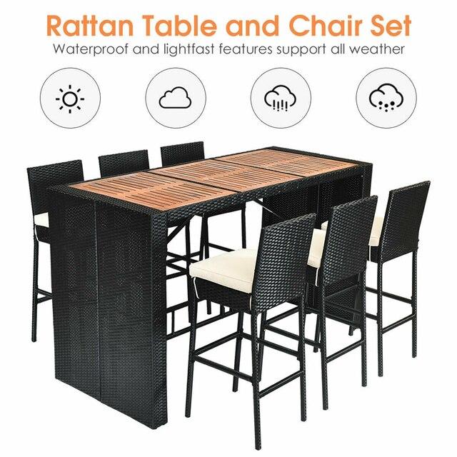 7 PCS Outdoor Dining Furniture Set 4