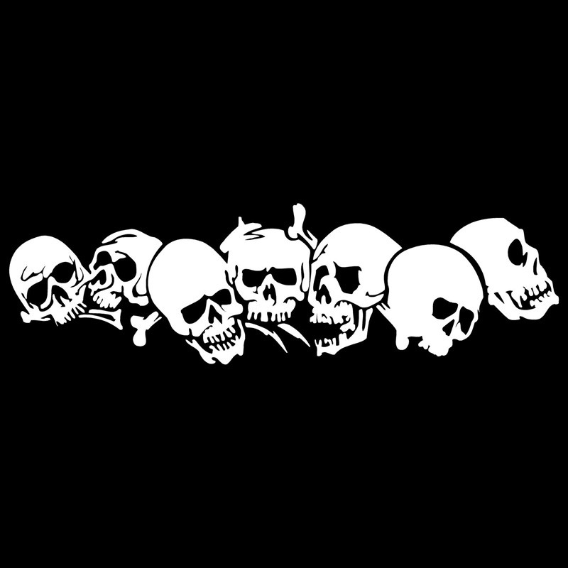 22 8 6 7CM SKULL Vinyl Car Stickers Motorcycle Decals Car Styling Accessories in Car Stickers from Automobiles Motorcycles