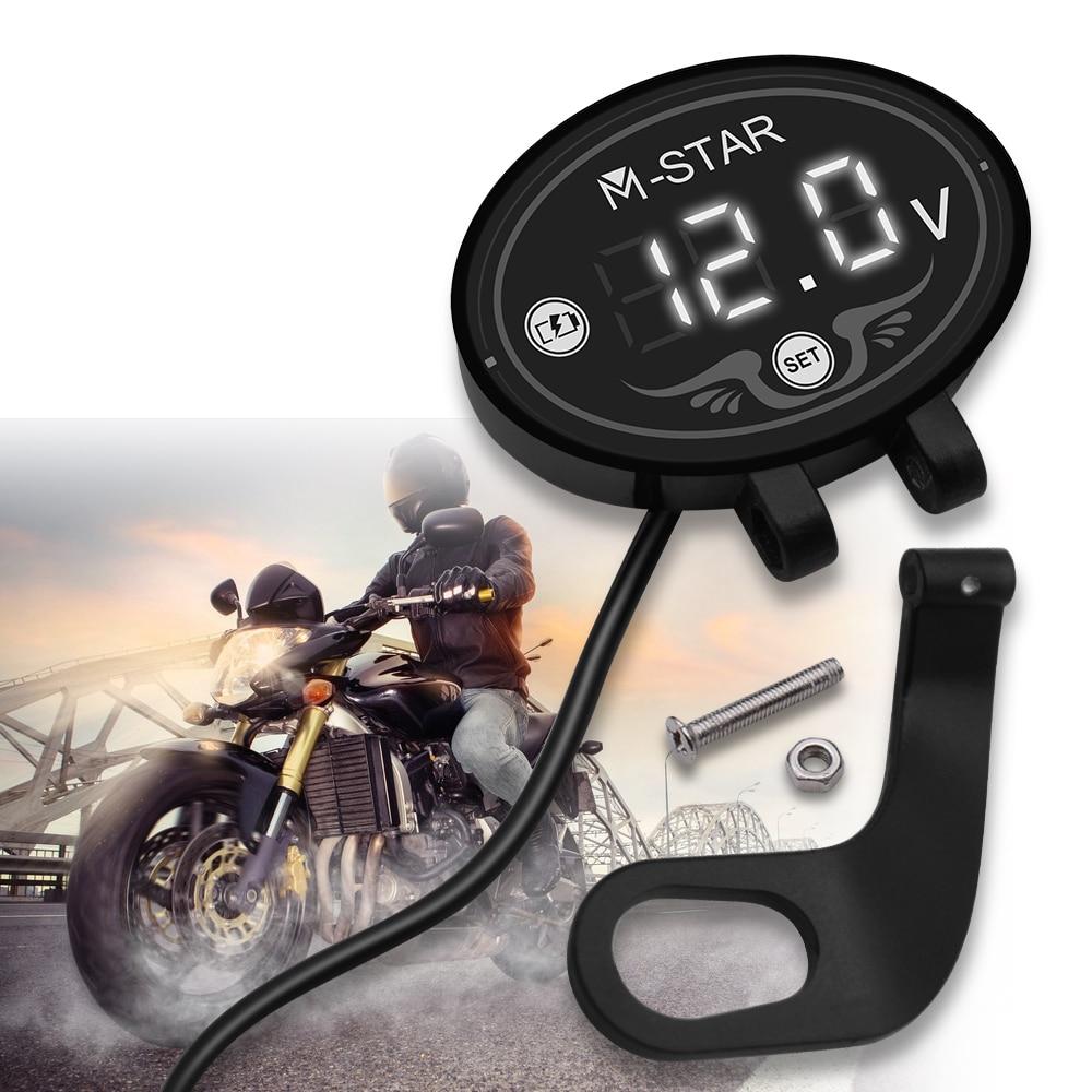 Waterproof Digital Motorcycle Voltmeter Meter Tester LED Display For Honda VTX1300 CB R650F 650F VF VFR 750 800 VTR1000F CBR125R