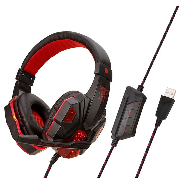 SY830 Wired Earphone Gaming Headset PC Gamer Stereo Headphone with Miniphone for Computer Gamer