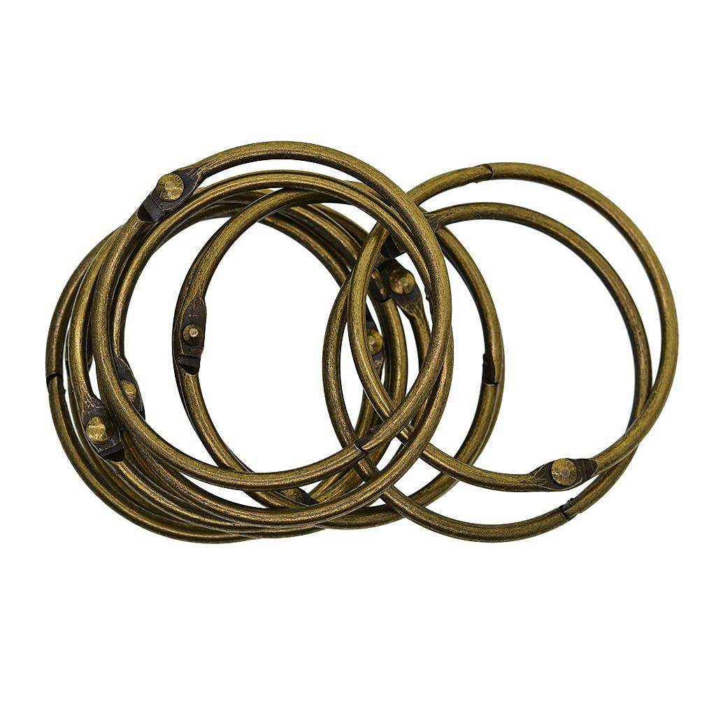 10x Metal Hinged Binder Key Rings for Scrapbooks Albums CRAFT FINDINGS 25mm