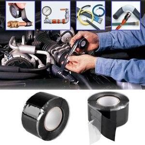 Image 4 - 1 個の有用なツール防水シリコーンパフォーマンス修理テープ接着救助自己融着ホース黒ガーデン水道管コネクタ